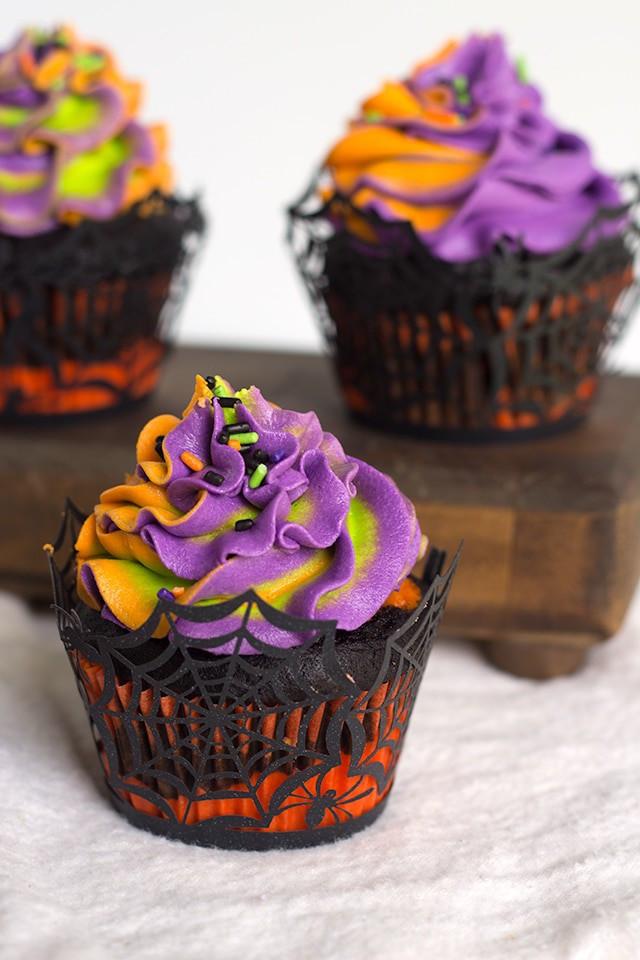 Picture Of Halloween Cupcakes  Halloween Swirled Cupcakes