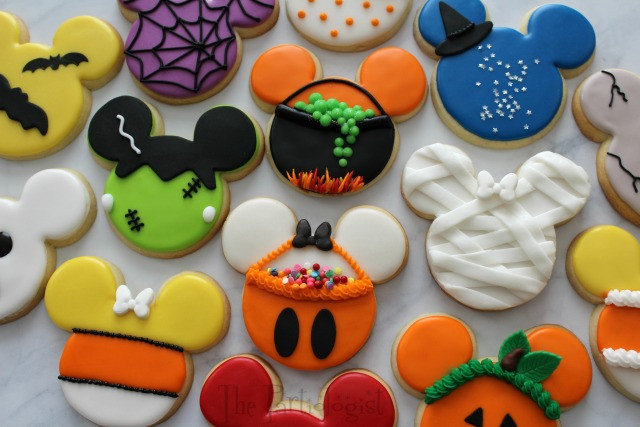 Pictures Of Halloween Cookies  The Partiologist Disney Themed Halloween Cookies