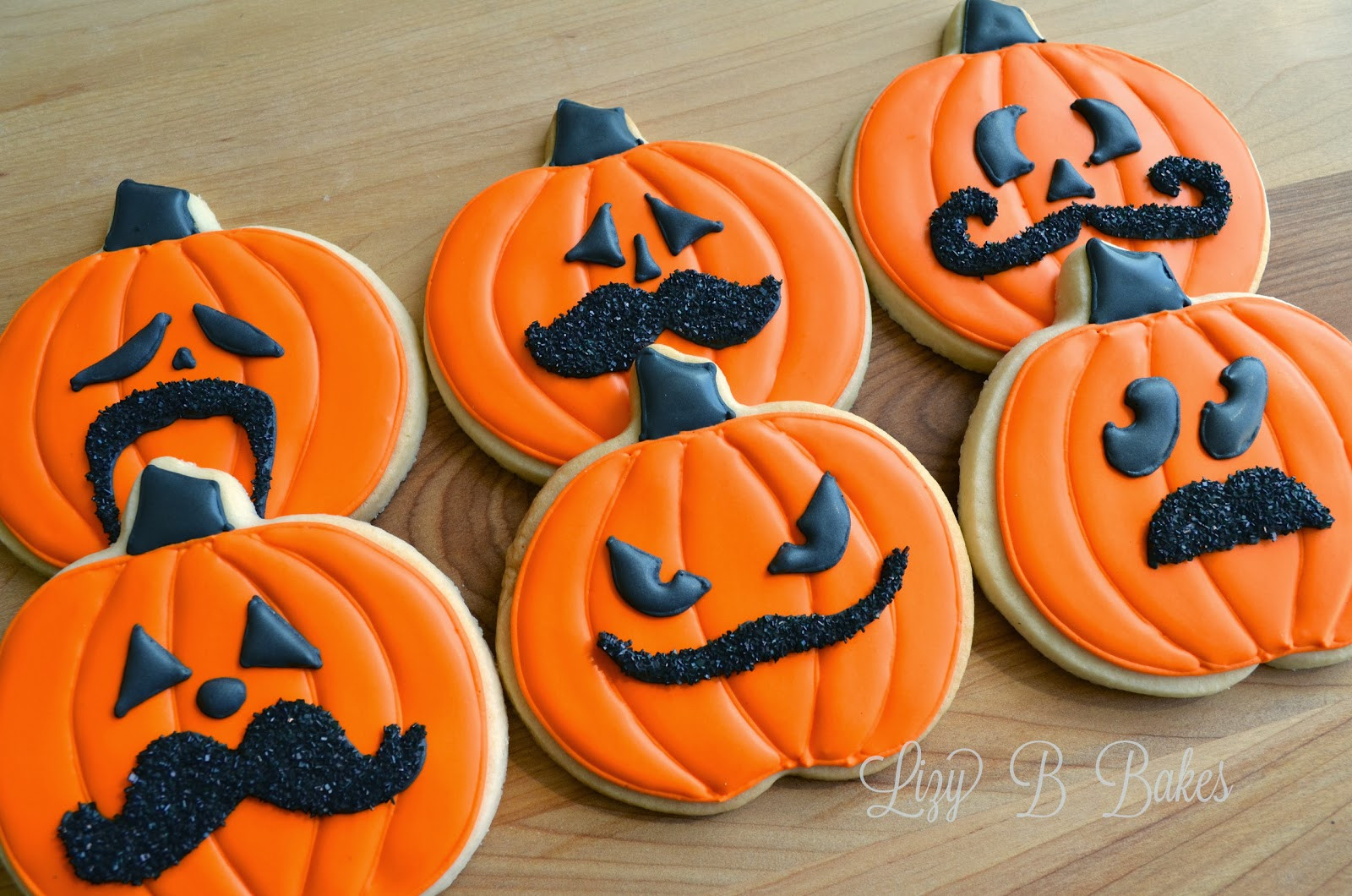 Pictures Of Halloween Cookies  Lizy B Halloween Mustache Cookies