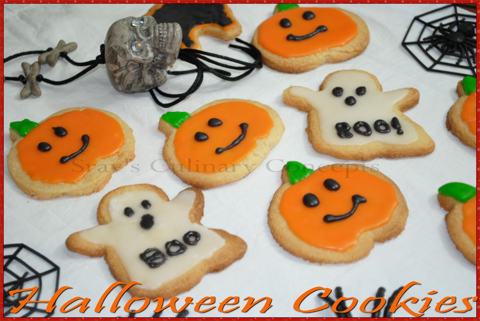 Pictures Of Halloween Cookies  Srav s Culinary Concepts Halloween Sugar Cookies with