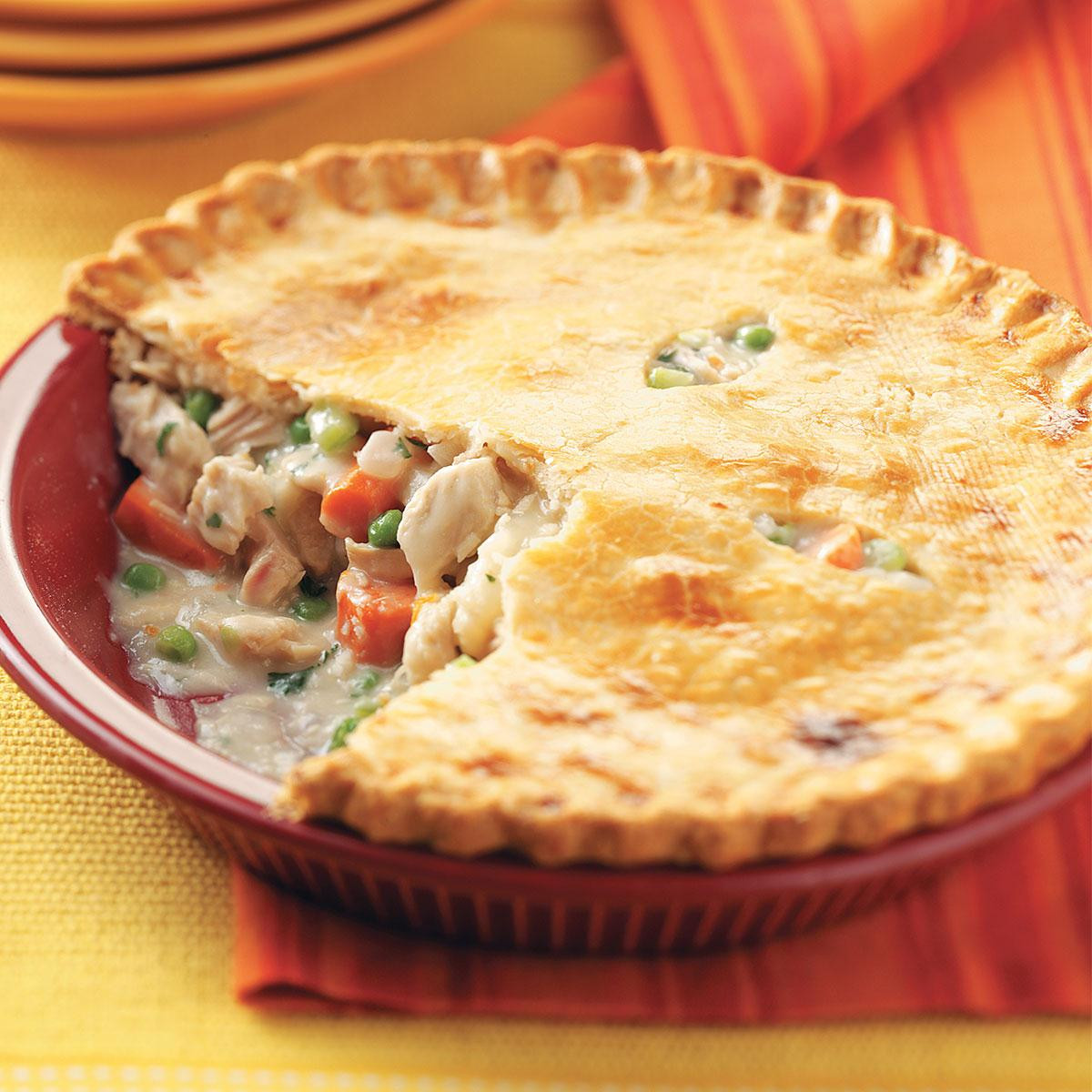 Pie Recipes For Thanksgiving  Turkey Potpies Recipe