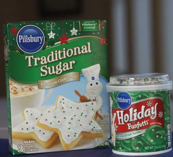 Pillsbury Christmas Tree Cookies  Christmas Tree Brownies and Cookies on Sticks More