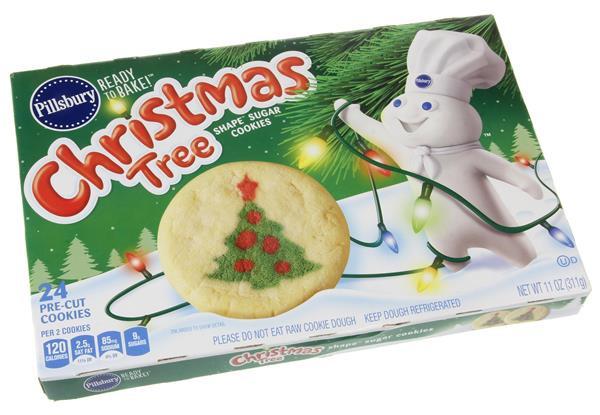Pillsbury Christmas Tree Cookies  Pillsbury Ready to Bake Christmas Tree Shape Sugar