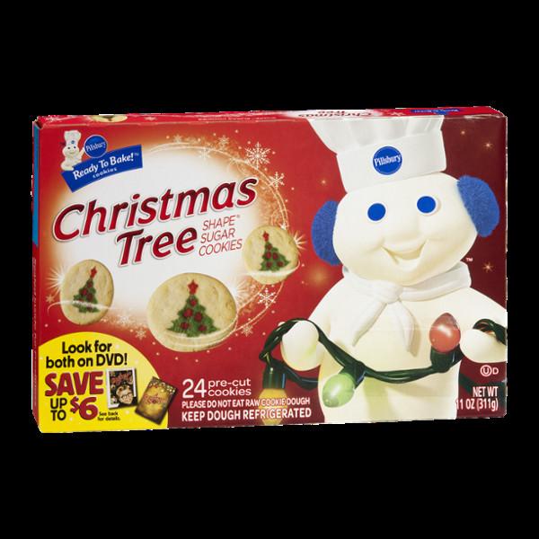 Pillsbury Christmas Tree Cookies  Pillsbury Ready to Bake Christmas Tree Shape Sugar Cookies
