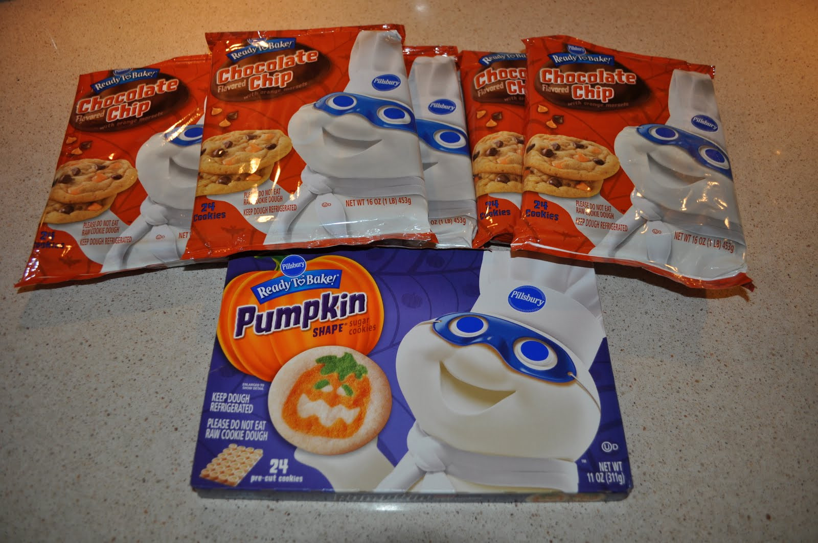 Pillsbury Dough Boy Halloween Cookies  slice and bake cookie