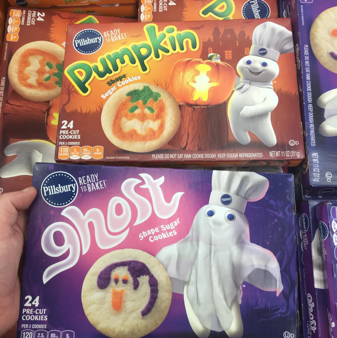 Pillsbury Dough Boy Halloween Cookies  Found Pillsbury Halloween Cookie Doughs Snack Gator