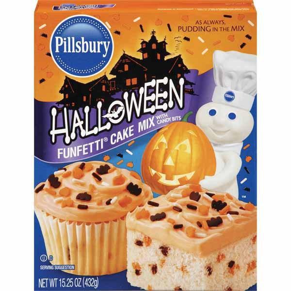Pillsbury Halloween Cookies Walmart  Pillsbury Halloween Funfetti Cake Mix Wal Mart
