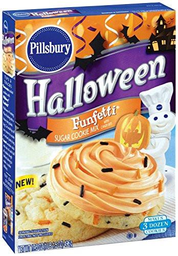 Pillsbury Halloween Sugar Cookies  Pillsbury Halloween Funfetti Sugar Cookie Mix with Candy