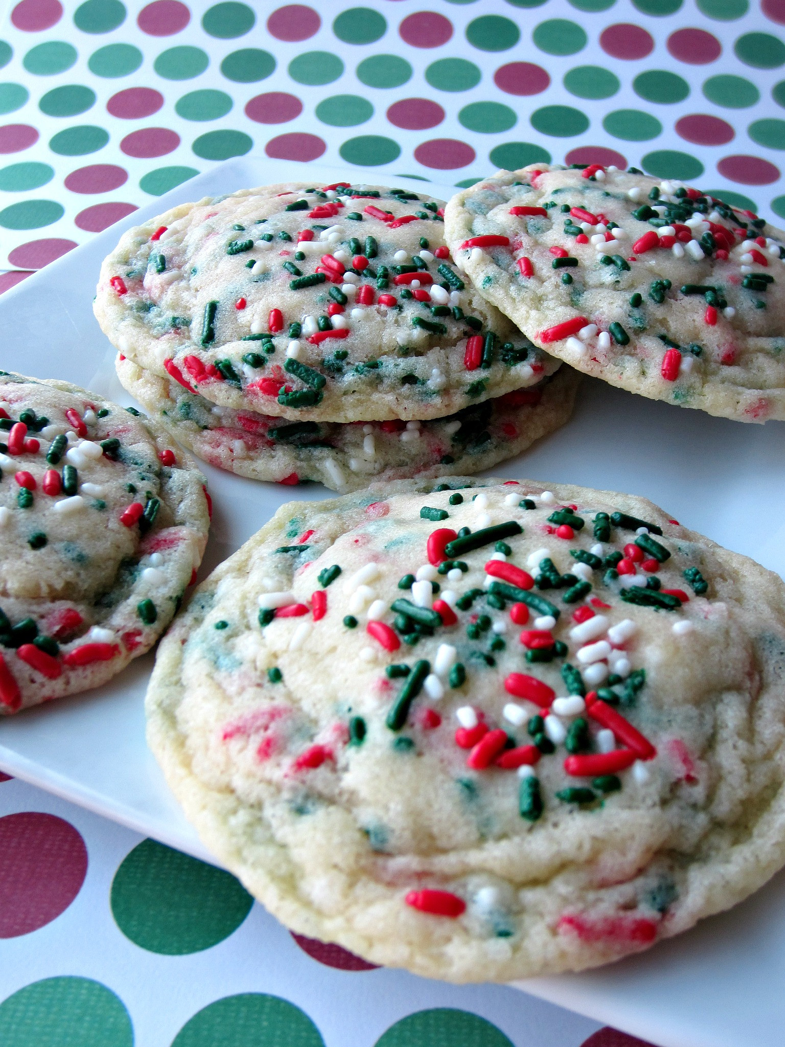 Pinterest Christmas Cookies  Christmas Funfetti Cookies Love to be in the Kitchen