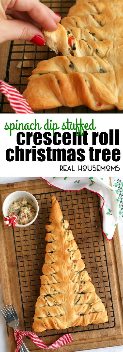 Pizza Dough Spinach Dip Christmas Tree  1000 images about Crescent Roll Recipes on Pinterest