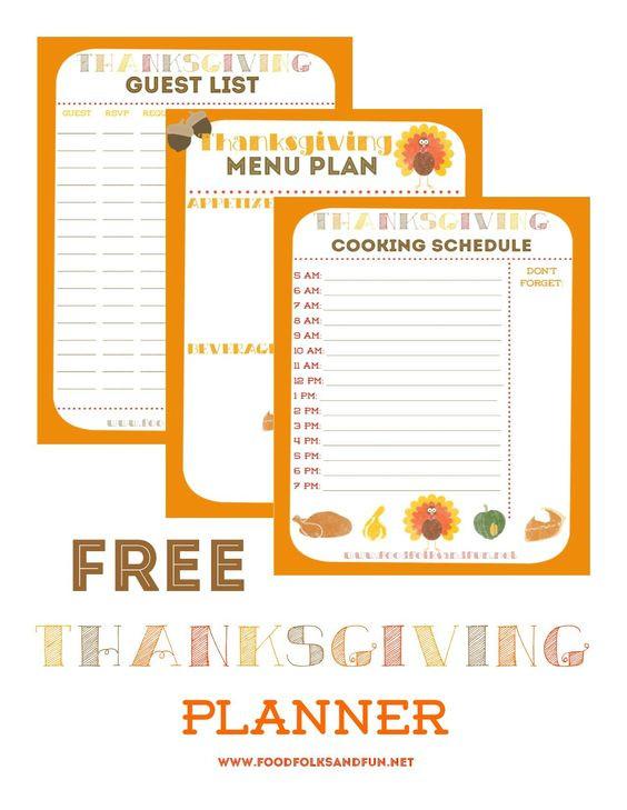 Planning Thanksgiving Dinner Checklist  15 Thanksgiving Planning Printables and Checklists – Tip
