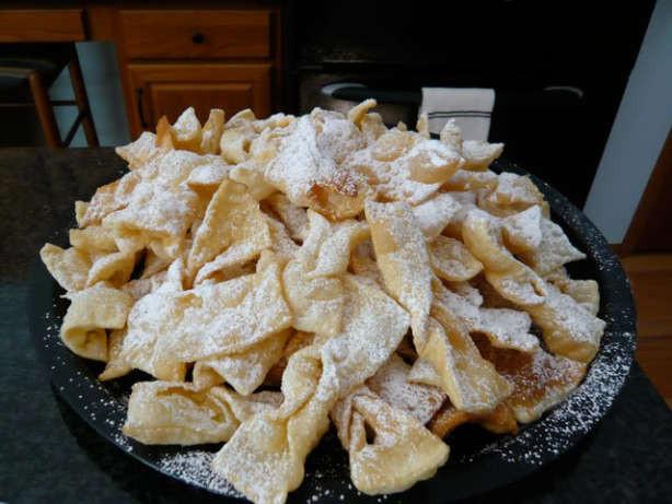 Polish Christmas Cookies  Polish Angel Wings Chrusciki Recipe Food