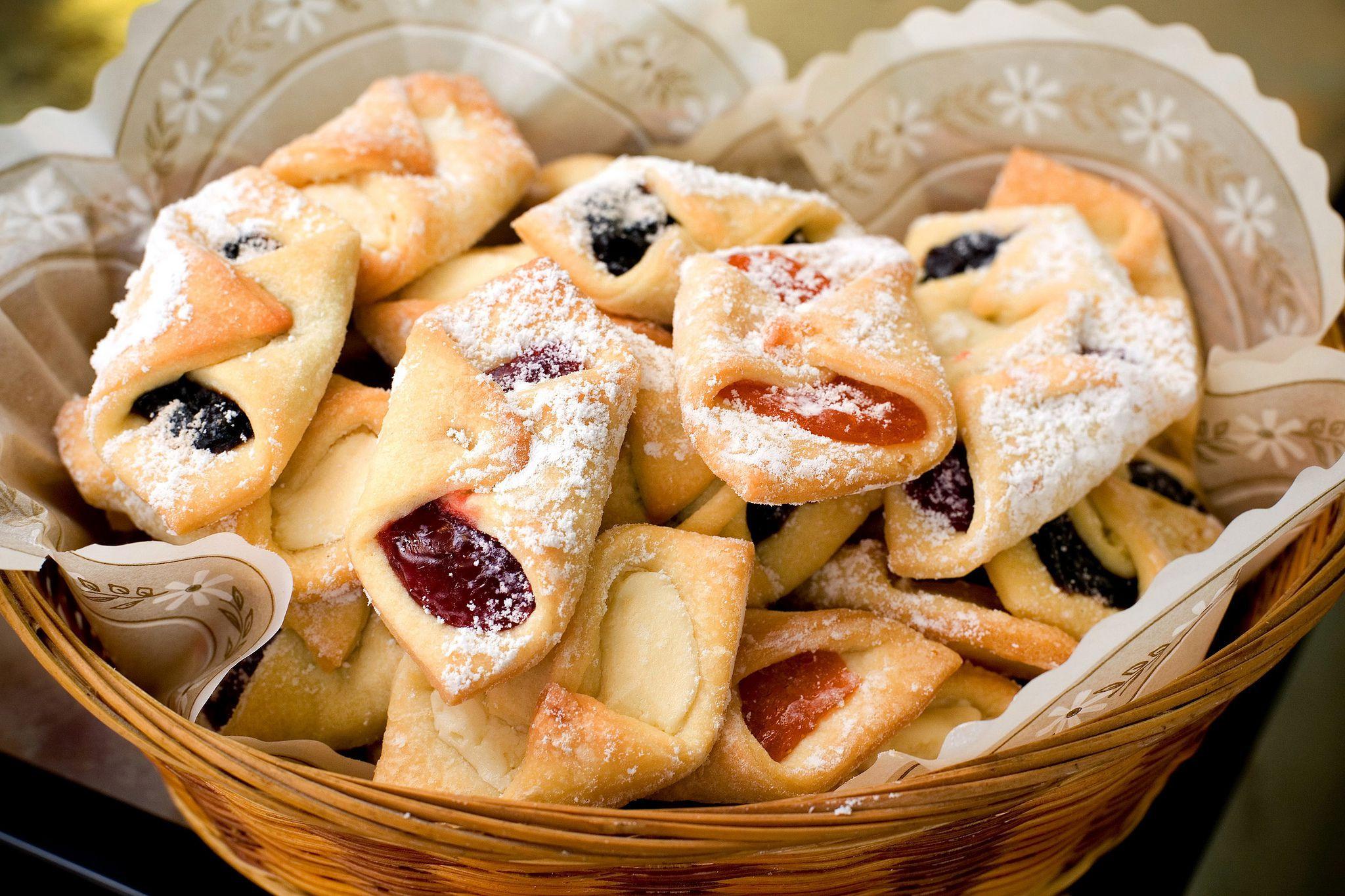 Polish Christmas Cookies  Polish Cream Cheese Cookies Kolaczki Recipe