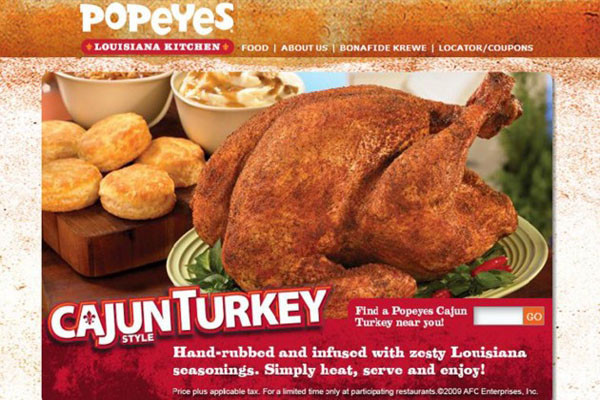 Popeyes Thanksgiving Turkey  Top 11 Thanksgiving Restaurant Dinner Deals