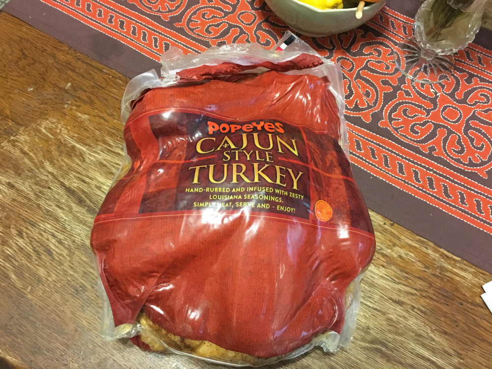 Popeyes Turkey Thanksgiving  Popeyes sells Cajun turkey for Thanksgiving and it's very