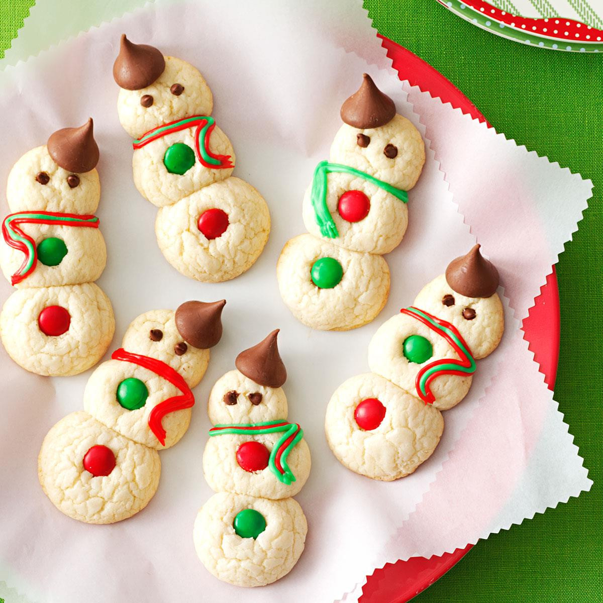 Popular Christmas Cookies Recipes  Snowman Cookies Recipe