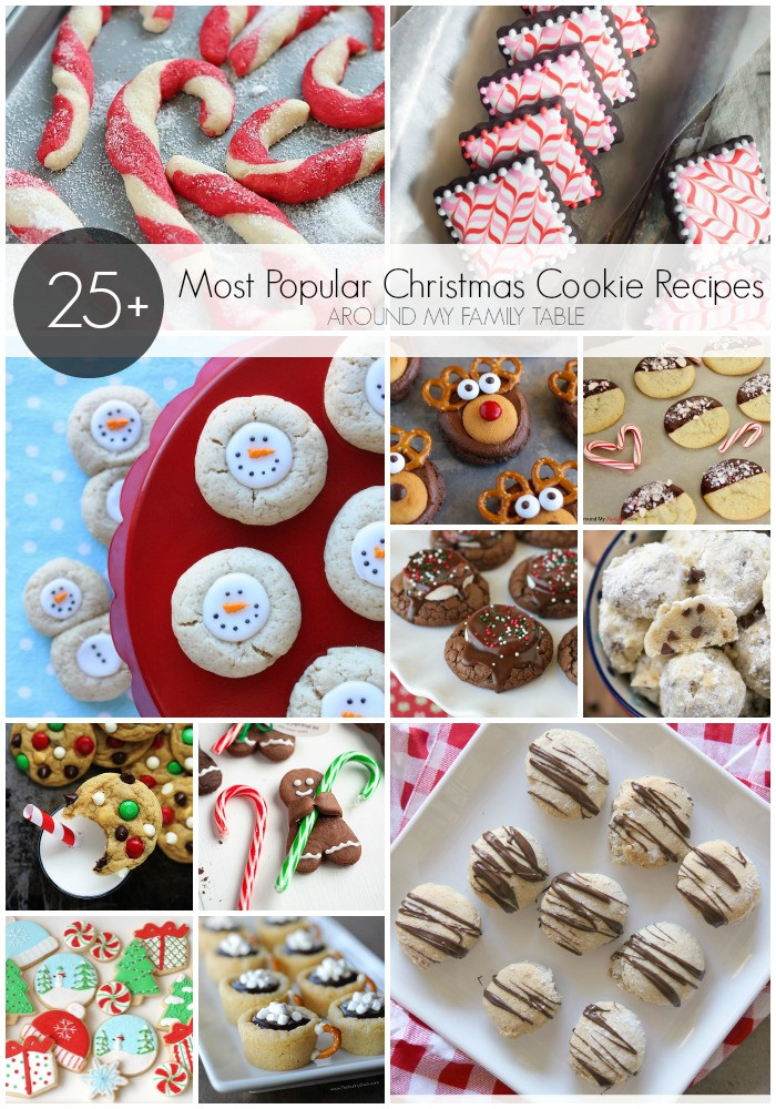 Popular Christmas Cookies Recipes  Most Popular Christmas Cookie Recipes Around My Family Table