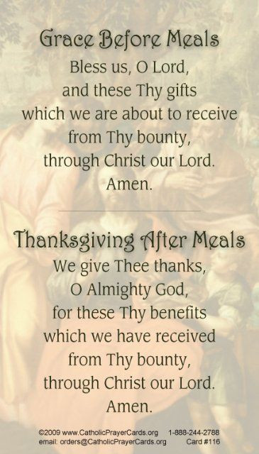 Prayer For Thanksgiving Dinner  17 Best images about Grace before meals on Pinterest
