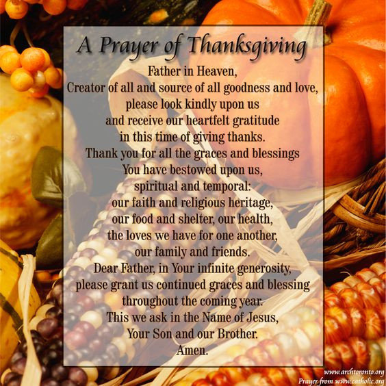 Prayer For Thanksgiving Dinner  Pinterest • The world's catalog of ideas