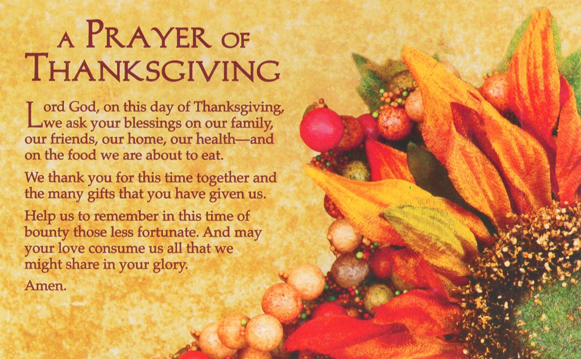 Prayer For Thanksgiving Dinner  A prayer of Thanksgiving thanksgiving prayer grateful