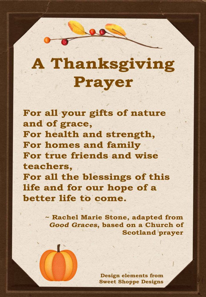 Prayer For Thanksgiving Dinner  A Thanksgiving Prayer Wholistic Woman