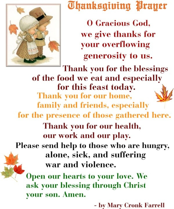 Prayer For Thanksgiving Dinner  Best 25 Thanksgiving prayers ideas on Pinterest