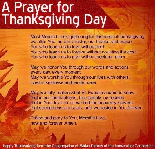 Prayer For Thanksgiving Dinner  A Prayer for Thanksgiving Day