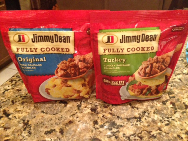 Pre Cooked Thanksgiving Dinner Walmart  Jimmy Dean Sausage Crumbles Recipes JDCrumbles Who