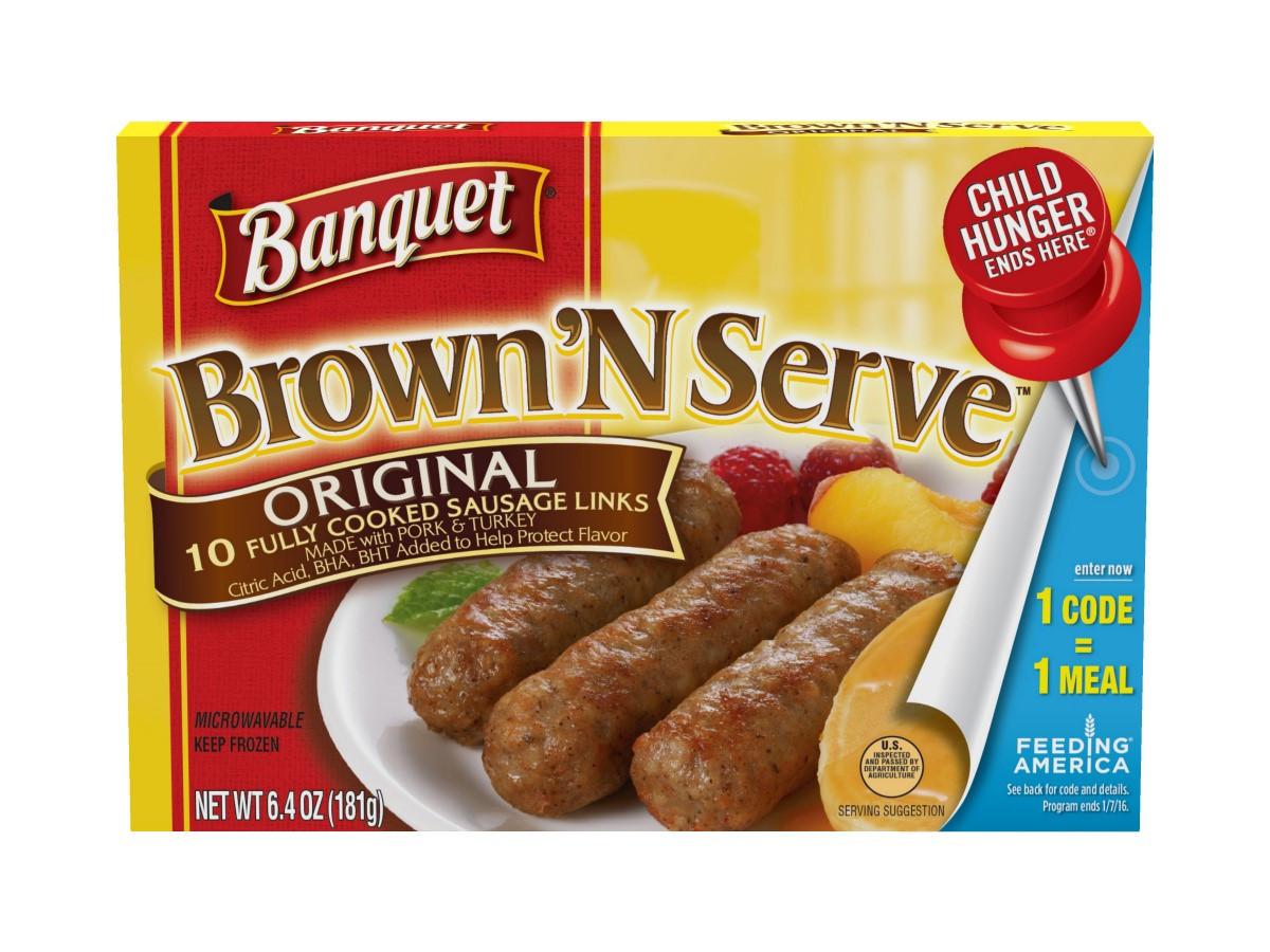 Pre Cooked Thanksgiving Dinner Walmart  Banquet Brown N Serve Pork And Turkey Breakfast Sausage