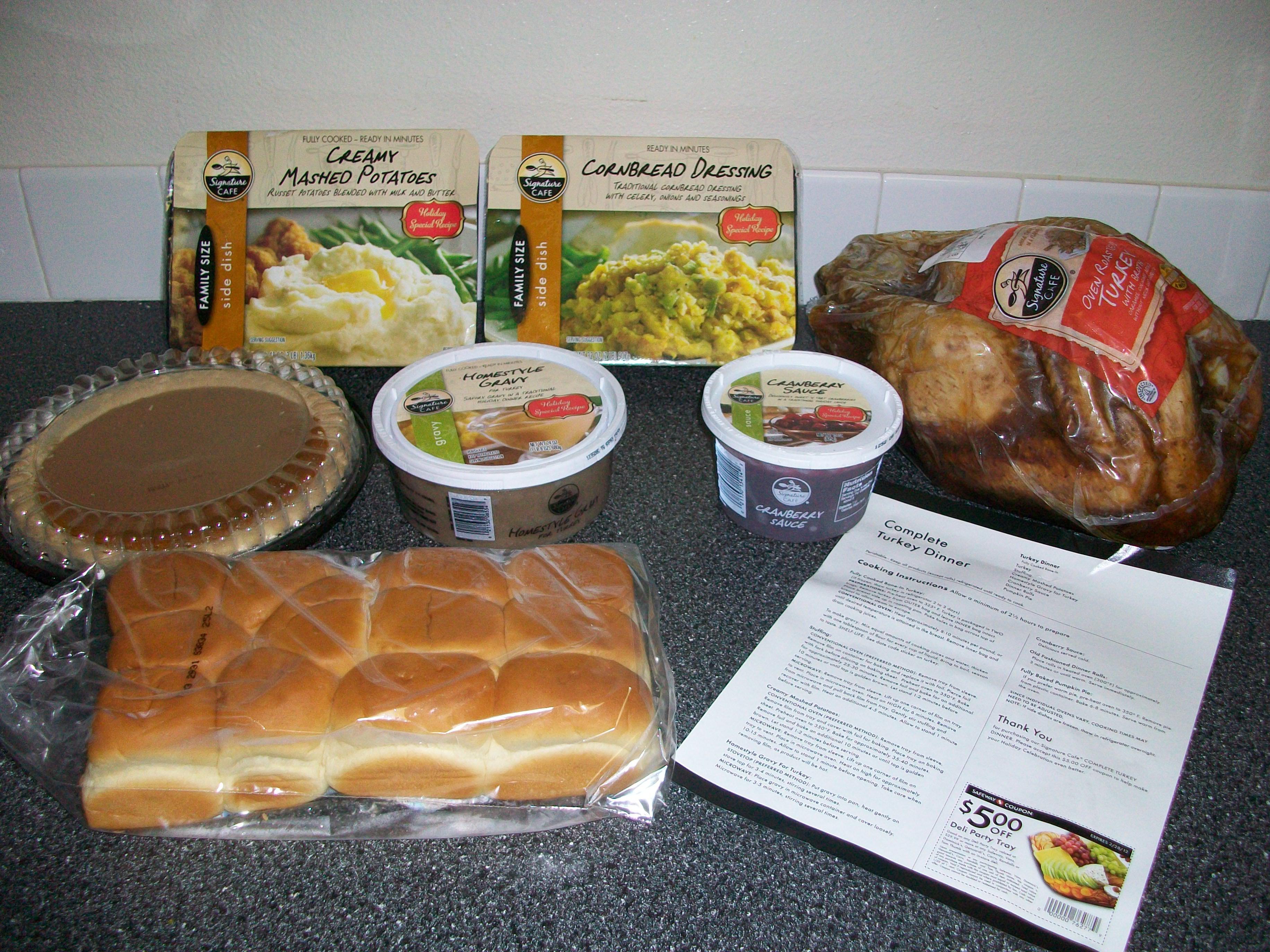 Pre Cooked Thanksgiving Turkey  Safeway $39 99 Turkey Dinner Review