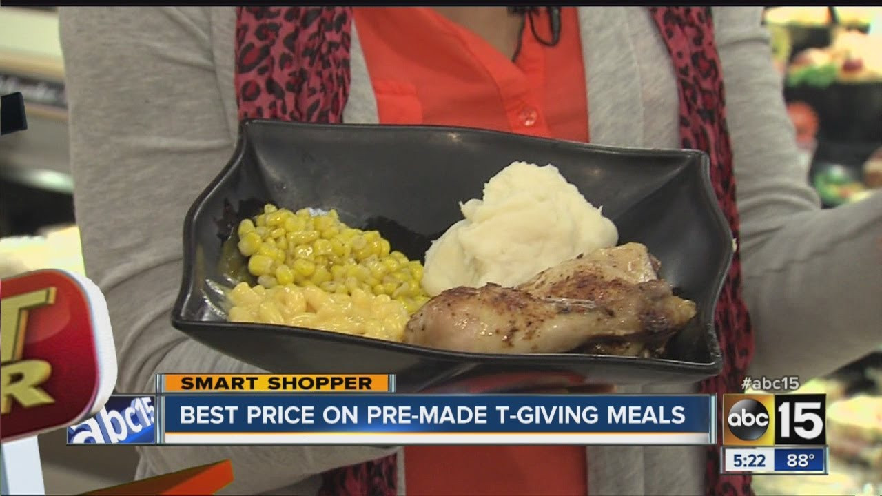 Pre Made Thanksgiving Dinners  Get the best price on pre made Thanksgiving meals