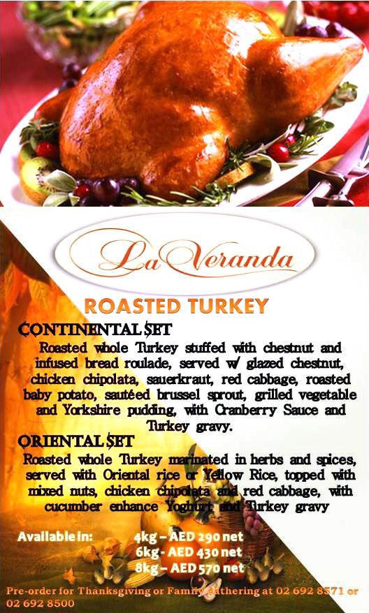 "Pre Order Thanksgiving Turkey  Sheraton Khalidiya on Twitter ""Pre order our festive"