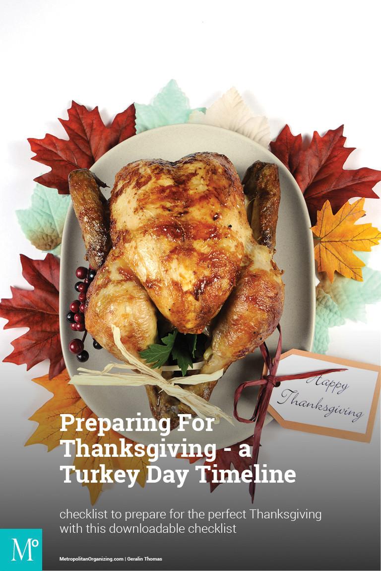 Preparing A Turkey For Thanksgiving  Turkey Day Timeline Checklist Preparing For Thanksgiving