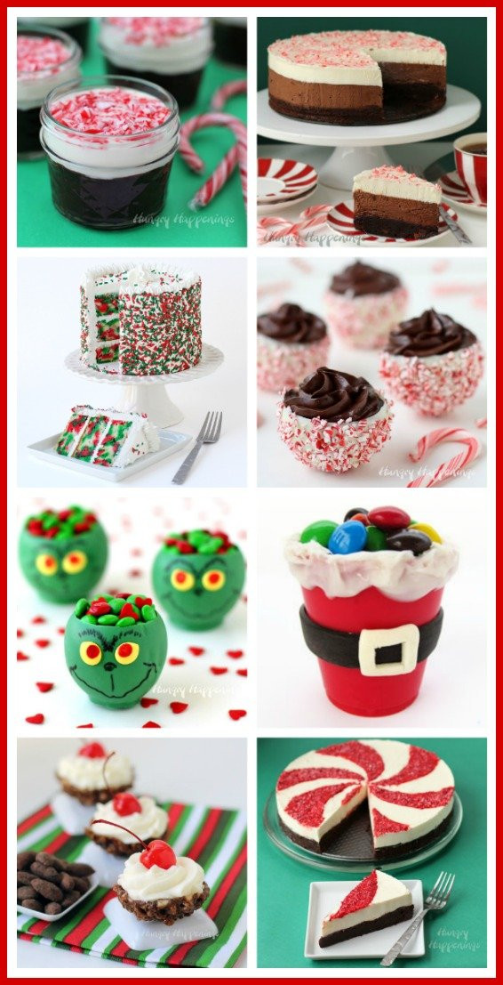Pretty Christmas Desserts  Candy Cane Chocolate Cups filled with Peppermint Mousse