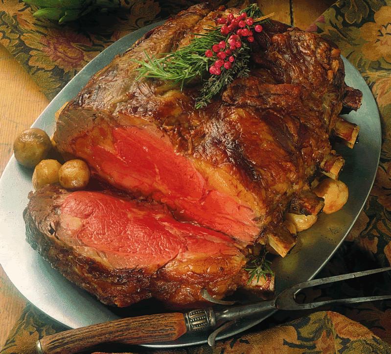 Prime Rib Christmas Dinner  Holiday Recipes Horseradish Crusted Prime Rib of Beef