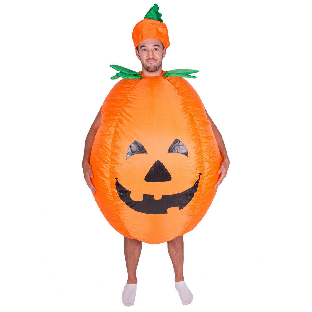 Pumpkin Pie Halloween Costume  INFLATABLE PUMPKIN PIE COSTUME ADULT FANCY DRESS HALLOWEEN