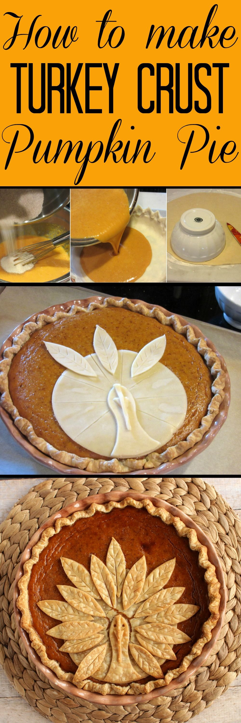 Pumpkin Pie Thanksgiving  Adorable Turkey Crust Pumpkin Pie Recipe
