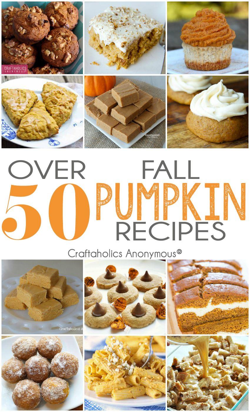 Pumpkin Recipes For Fall  Craftaholics Anonymous