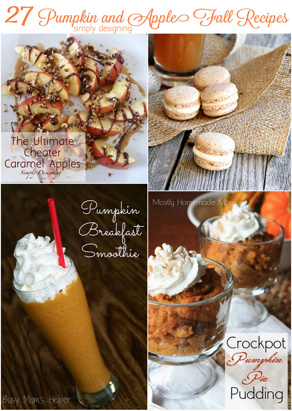 Pumpkin Recipes For Fall  27 Amazing Apple and Pumpkin Recipes for Fall