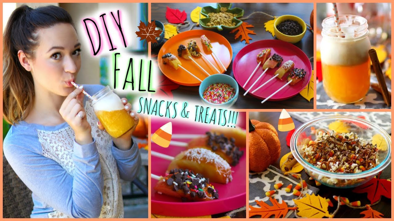 Quick And Easy Fall Desserts  DIY Fall Snacks Party Treats ♡ Quick and Easy