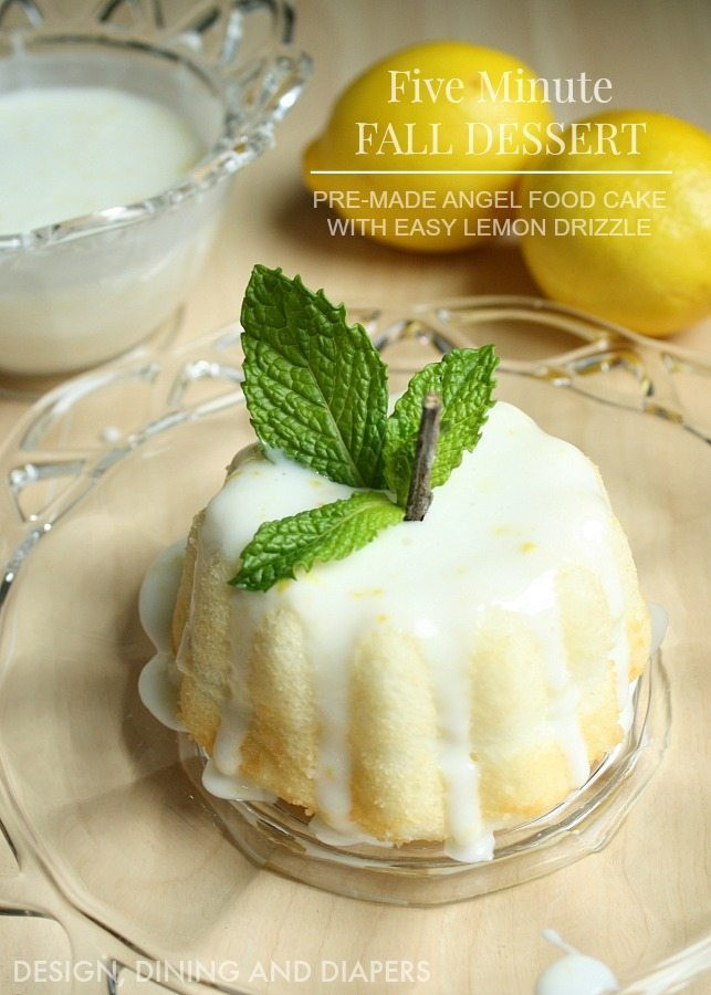 Quick And Easy Fall Desserts  Pumpkin Angel Food Cake With Lemon Drizzle Taryn Whiteaker
