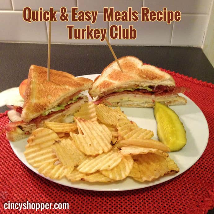 Quick And Easy Thanksgiving Recipes  Quick and Easy Meals Recipe Turkey Club CincyShopper
