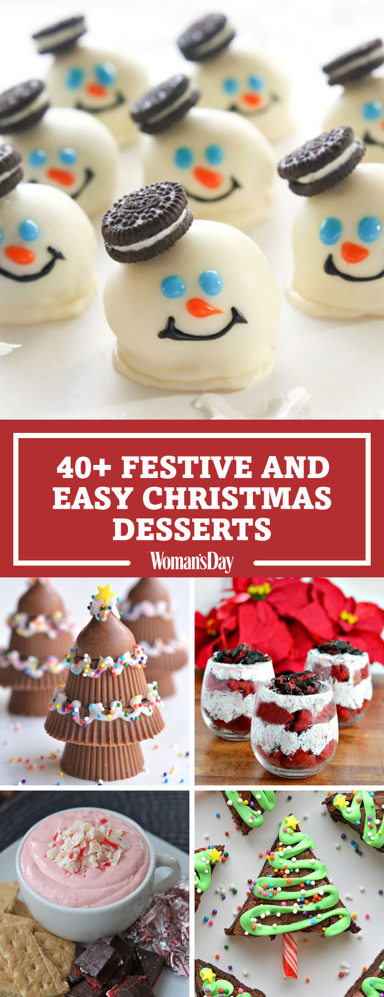 Quick Christmas Desserts  57 Easy Christmas Dessert Recipes Best Ideas for Fun