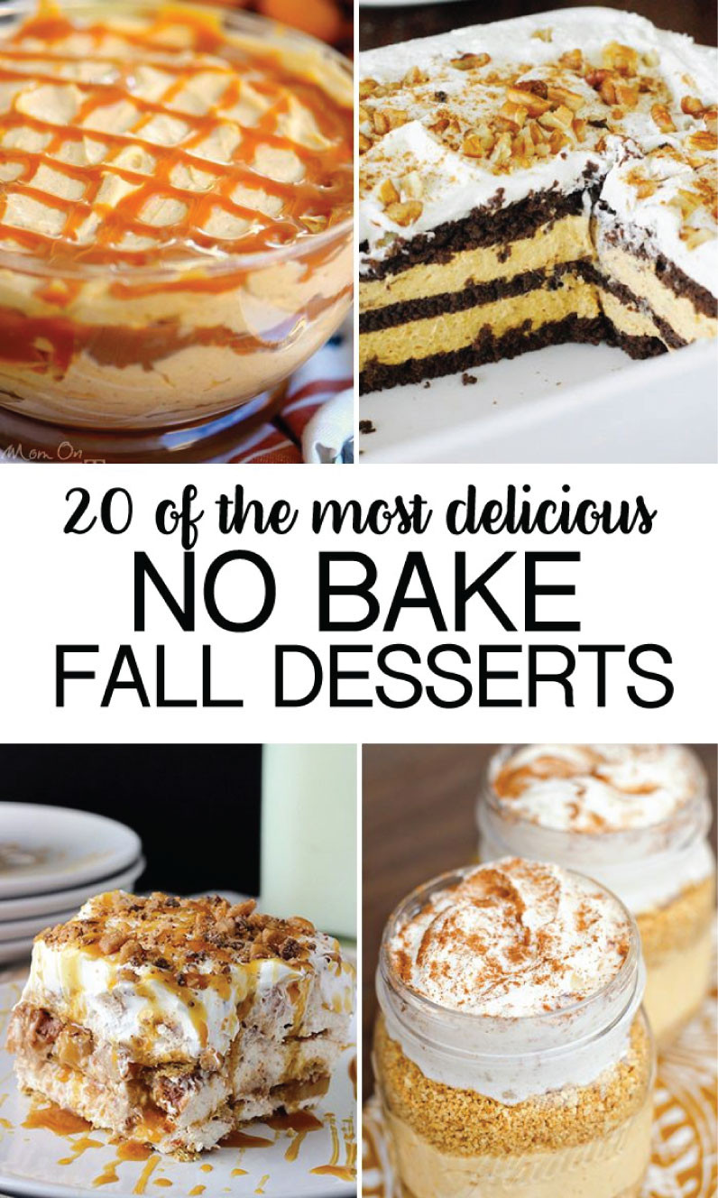 Quick Fall Desserts  No Bake Fall Desserts