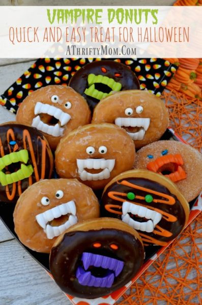 Quick Halloween Desserts  Vampire Donuts with Fangs A Quick and Easy Treat For