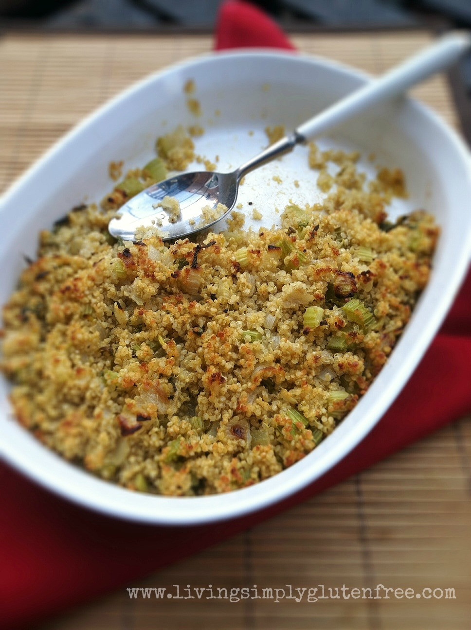 Quinoa Stuffing Thanksgiving  Quinoa Sage Stuffing Gluten free