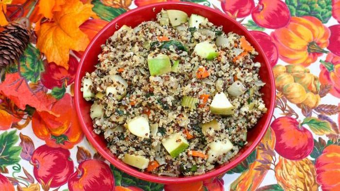 Quinoa Stuffing Thanksgiving  Veggie Quinoa Stuffing Dairy Free Gluten Free Vegan