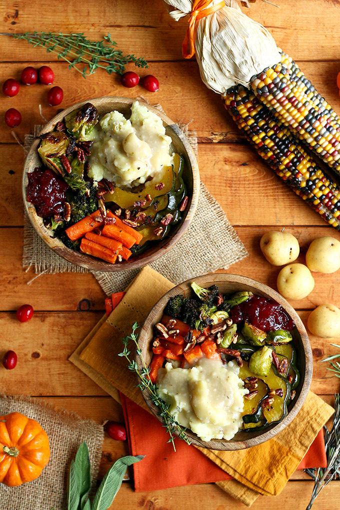 Raw Vegan Thanksgiving  Roasted Vegan Thanksgiving Bowl I LOVE VEGAN