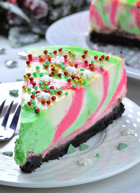 Recipe For Christmas Desserts  Christmas Cheesecake