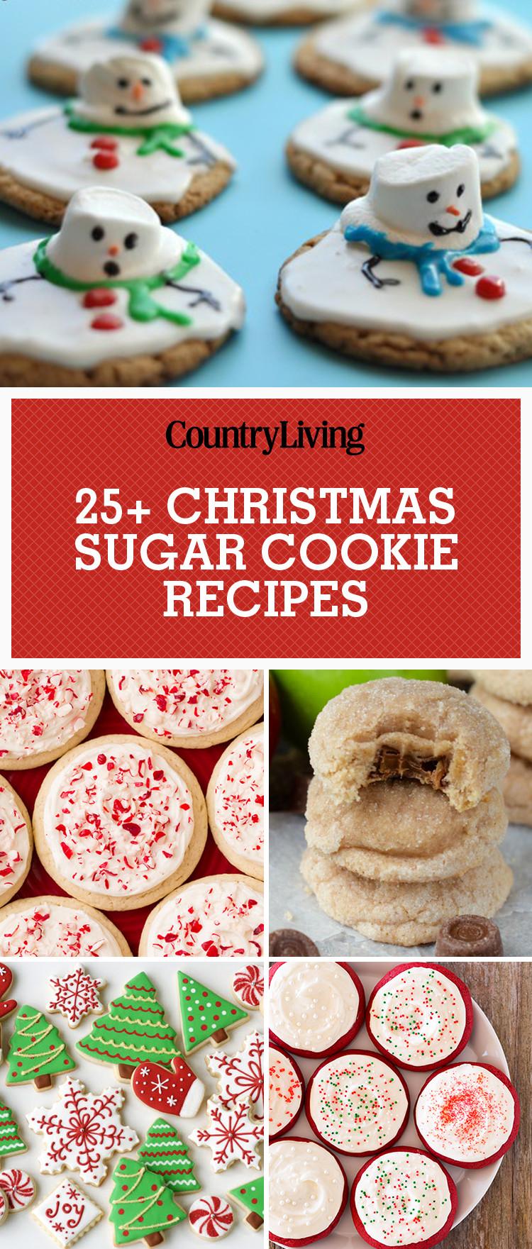 Recipe For Christmas Sugar Cookies  25 Easy Christmas Sugar Cookies Recipes & Decorating